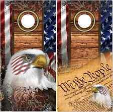 American Flag Wood Camo Eagles Cornhole Wrap Bag Toss Skin Decal Sticker Wraps