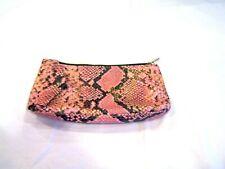 Estee Lauder pink snakeskin patterned cosmetic bag make up bag