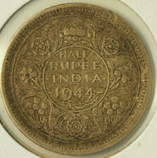 1944 L SILVER INDIA 1/2 RUPEE FREE SHIPPING LOT 4