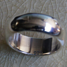 Beautiful Plain Ring Sterling Silver Thailand Size US=13 UK=Z Ring 2172