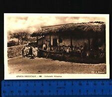 AFRICA ORIENTALE - VEDUTA DEL TRIBUNALE ABISSINO - FOT. A. COMINI - RARA - 24278
