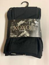 XOXO  Seamless Leggings S/M Fleece Lining Legging Womens Black Solid NWT $30