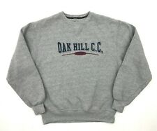 Vintage USA OAK HILL C.C. Sweatshirt SMALL Size UK 10 Gear For Sports Grey Retro
