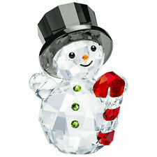 Swarovski Snowman with Candy Cane NIB #5464886