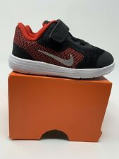 BABY BOYS: Nike Revolution 3 Shoes, Black & Red - Size 5C 819415-600