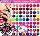 Choose ANY 50x Bluesky Soak-Off UV/LED Gel Nail Polish 10ml +Removal Wraps
