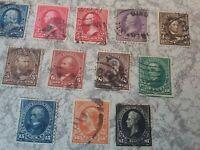 1895 - USA - Satz antiker Briefmarken inklusive 1$ Perry
