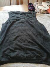 John Lewis Mens dark grey short sleeve v neck teeshirt style pull over