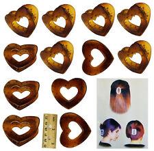 12 PCS Tortoise Heart Jaw Claw Clip Comb Medium Size Hair Comb