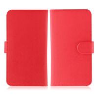 Etui  portefeuille universel en cuir rouge pour  smartphone Apple iPhone 8/8Plus