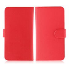 Etui  portefeuille universel en cuir rouge pour  smartphone Samsung Galaxy S6