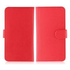 Etui  portefeuille universel en cuir rouge pour  smartphone Apple iPhone 6 / 6s
