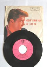 EDD BYRNES 45 RPM LIKE I LOVE YOU Kookies Pad SURF JUKEBOX 77 Sunset Strip Cool