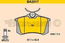 4 PLAQUETTE DE FREIN ARR AUDI A6 (4B2, C5) 2.7 T quattro 230 CH 12.1997-01.2005