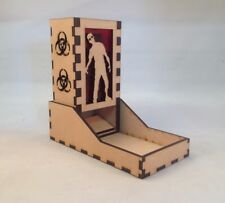 Zombie Dice Tower Red Acrylic Window Laser Cut MDF v1