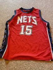 Vince Carter New Jersey Nets Number 15 Red Singlet NBA Original Apparel