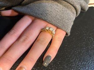 zales diamond engagement ring past present future 1cwt