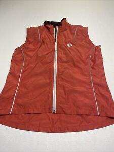 Women's Pearl Izumi Windbreaker Coral Vest Reflective Trim Large