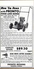 1949 Print Ad Pronto Power Lawn Mowers Clinton,Briggs & Stratton Oldsmar,FL