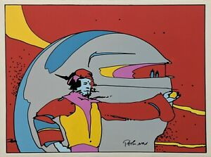 """PETER MAX """"SOMEWHERE IN SPACE"""" 