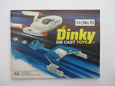 1977 DINKY TOYS CATALOG #13 NEAR MINT SPACE 1999/STAR TREK/KLINGON/DIE CAST TOYS