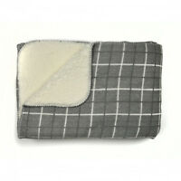 Dreams & Drapes - KILBURN Grey Checked Furniture / Sofa Throw Over, (125 x150cm)