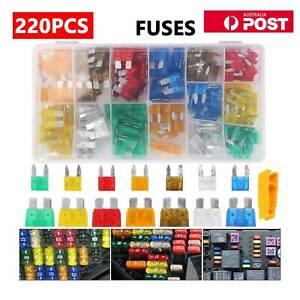220Pcs Assorted Car Fuse Mini Blade Fuses Set Auto Truck Assortment Kits AU