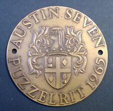 Austin Seven schildje Puzzelrit 1965 wapen Koninklijke Begeer car badge heraldry