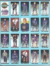 1993-94 NHL Oldtimers Promo Sheet - Hull, Lafleur, Richard