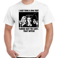 SANDERSON SISTERS T-Shirt, Halloween HOCUS POCUS DNA Test Witch Mens TEE Top