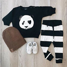 Newborn Baby Boy Girl Kid Casual Tops+Long Pants Outfits Clothes Tracksuit Sets