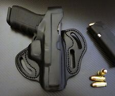 Fits Glock 17,19, 22,23,24,31,32,34,35,37,38 RIGHT BLACK 3 Slot Leather Holster