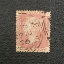 1876 One Penny RED GREAT BRITAIN UK Stamp LIVERPOOL CANCEL Victoria  DATED