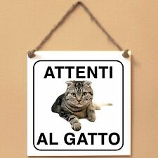 Scottish Fold 1 Attenti al gatto Targa gatto cartello ceramic tiles