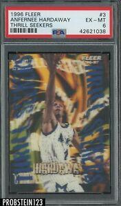 1996-97 Fleer Thrill Seekers #3 Anfernee Penny Hardaway Orlando Magic PSA 6