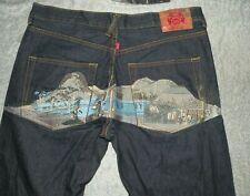 RMC Ksohoh Dark Raw Denim Toyo Story Villiage Straight Jeans Mens sz 38 x 36