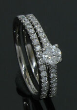 9 Carat White Gold Diamond Bridal Ring Set 0.50ct Size K (80.20.137/8)