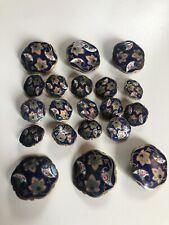 Antique Enamel Button Set (Lot)