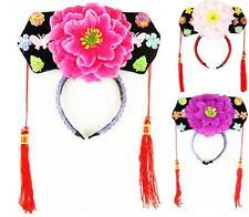 Childrens Girls Chinese Japanese Oriental Qing Dynasty Princess Flower Hairband