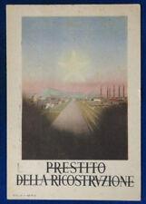 PRESTITO DELLA RICOSTRUZIONE illustrata viaggiata 1950 FG #17759