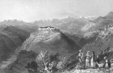 Lebanon JOUN MOUNTAINS PALACE Dahr El Sitt Stanhope ~ 1837 Art Print Engraving