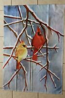 Winter Cardinals Decorative House Flag