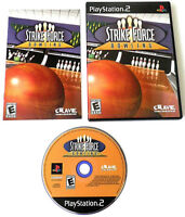STRIKE FORCE BOWLING PLAYSTATION 2 GAME COMPLETE MANUAL CIB PS2 TESTED WORKING