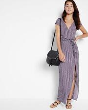 NEW EXPRESS FLORAL SHORT SLEEVE SURPLICE MAXI DRESS SZ S SMALL