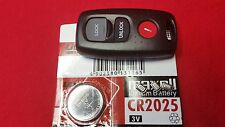 MAZDA 3 BUTTON REMOTE KEY FOB CASE SERVICE REPAIR KIT