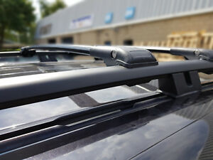 VW AMAROK LOCKABLE BLACK CROSS BARS ROOF BAR RACK 2010 ONWARDS 75 KG CAPACITY