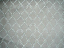 "SANDERSON  CURTAIN FABRIC DESIGN ""Laurel trellis"" SHEER VOILE FABRIC 16.5 METRES"
