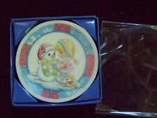"Precious Moments 2009 Sno' Day Like A Holiday 2 1/4"" Mini Collector Plate Nib"