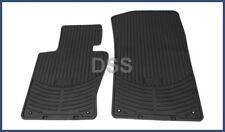 Genuine BMW X3 All Weather Rubber Floor Mats Front Black OEM (09-10) 82110305566