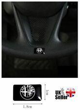 Alfa Romeo Logo Emblem Sticker Decal Badge Stelvio Giulia 4C Mito Giulietta bw